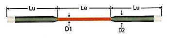 Дисилицид молибденовый нагреватель (прямой тип)
