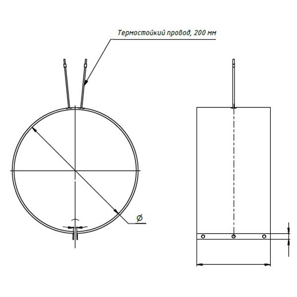 Тип подключения нагревателей 1. Вывод в виде  термостойкого провода