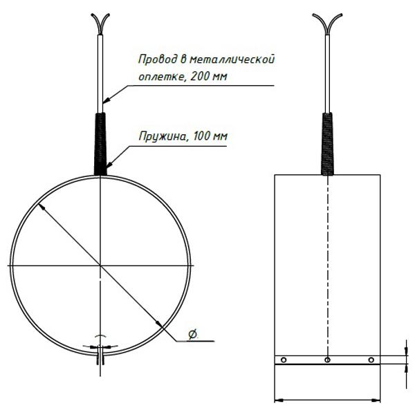 Тип подключения 3. Вывод защищен металлической пружиной