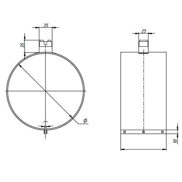 Тип подключения 5. Термостойкая керамическая колодка на П-образной ножке