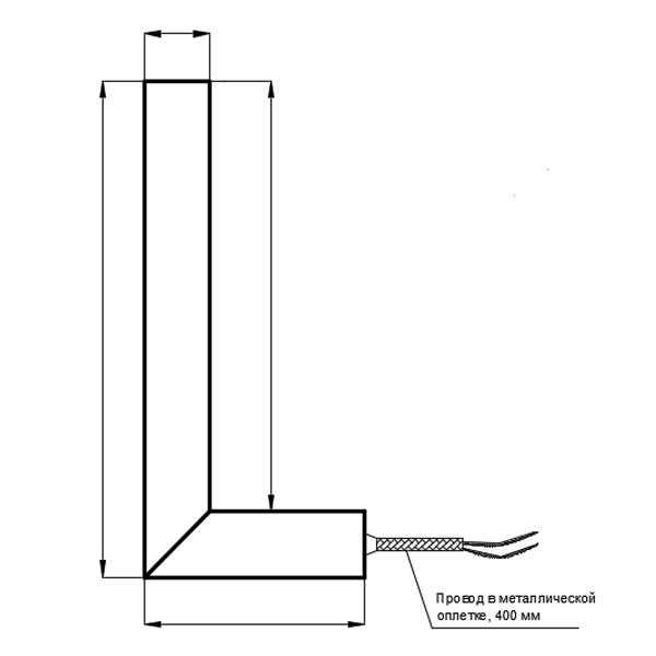 Тип подключения 4. Термостойкий провод  в угловом наконечнике