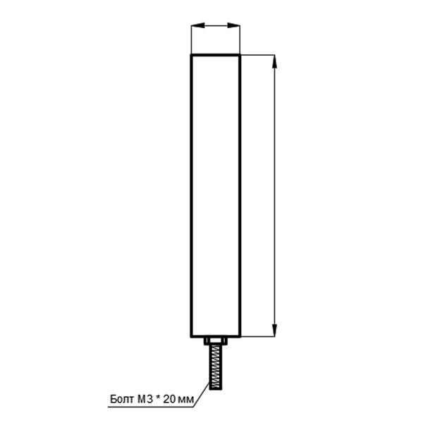 Тип подключения 7. Одинарный винтовой или гибкий вывод с подсоединением 0 на корпус