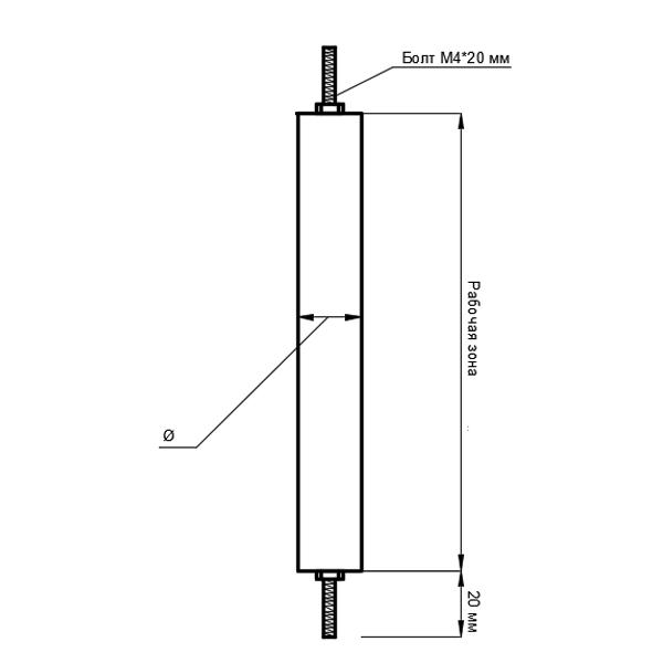 Тип подключения 9. Выводы расположены с двух сторон нагревателя.