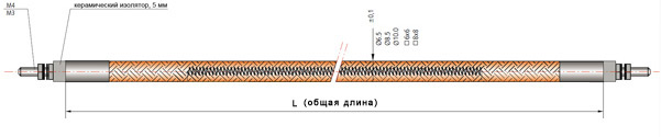 Гибкий формируемый нагреватель чертеж