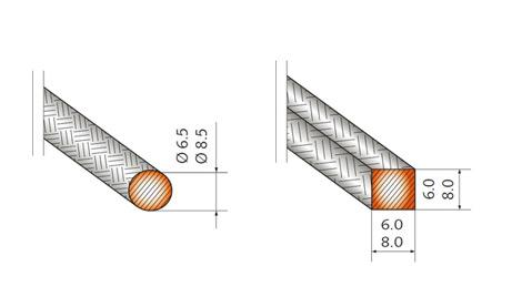 Гибкий формируемый нагреватель - типы сечений (чертеж)