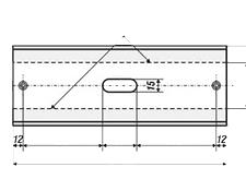 Отражатель ECR для керамических ИК излучателей чертеж
