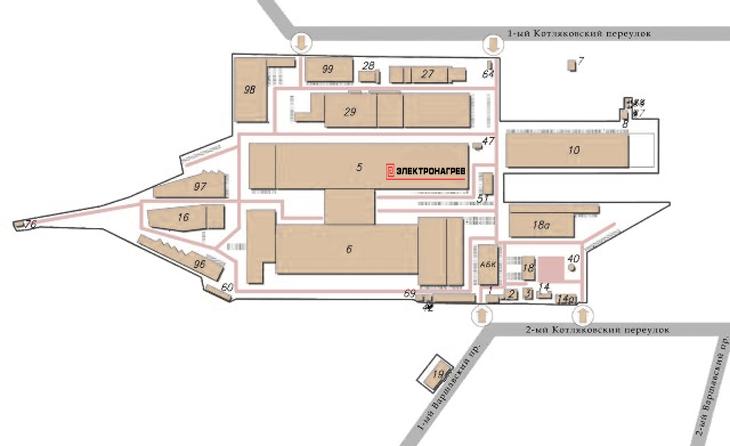 Карта расположения компании Электорнагрев